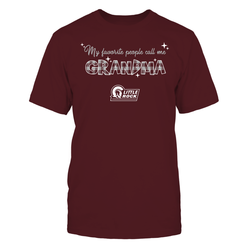 Arkansas Little Rock Trojans - My Favorite People Call Me Mimi - Checkered Pattern Front picture