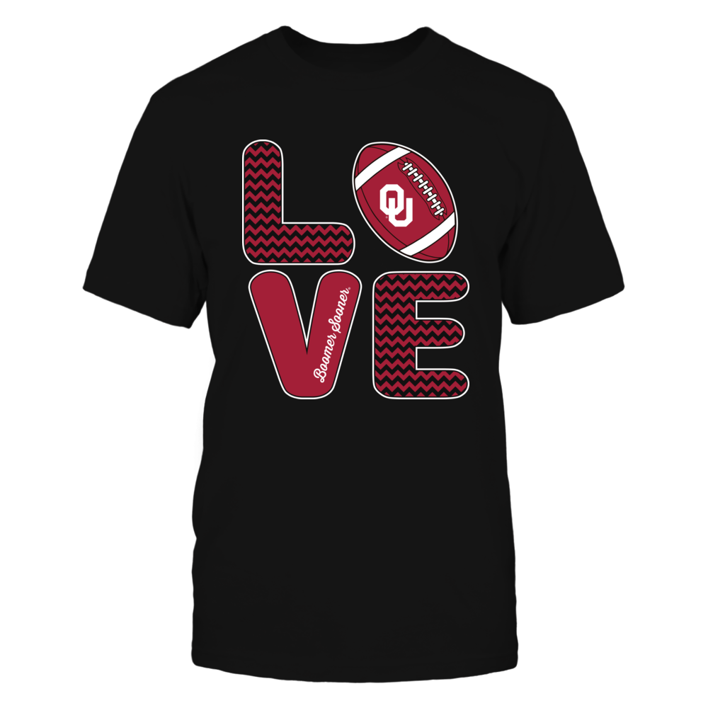 Oklahoma Sooners - Love Team Cute Pattern Football Symbol Front picture