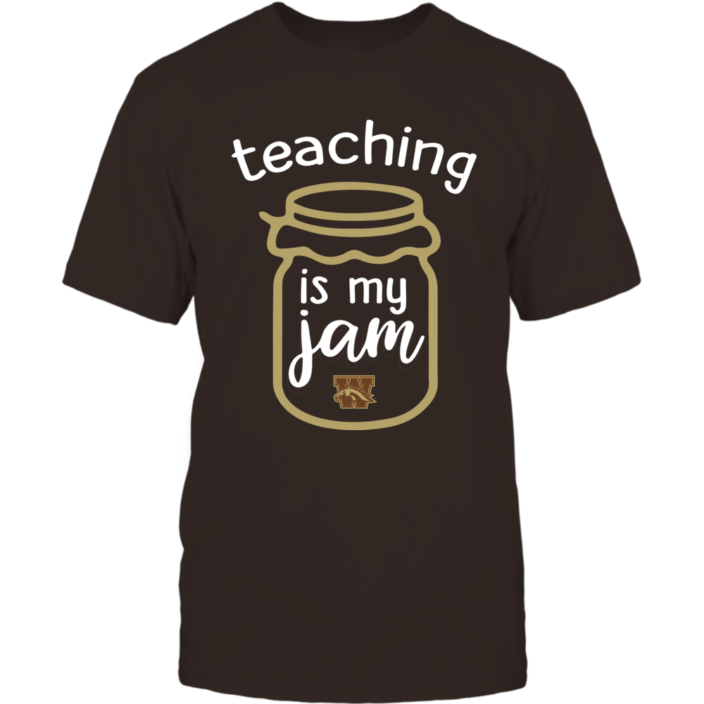 Western Michigan Broncos - Teaching is My Jam - Jar Front picture