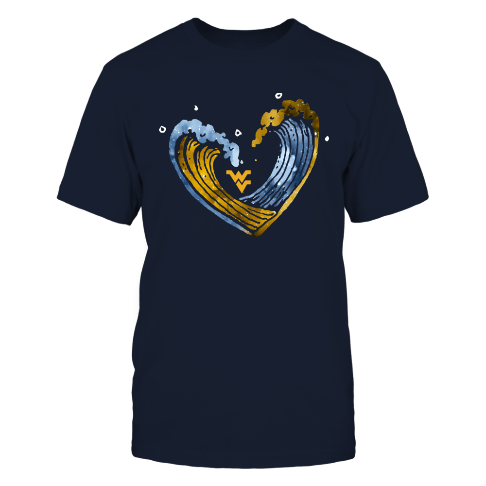 West Virginia Mountaineers - Drawing Wave Heart Front picture