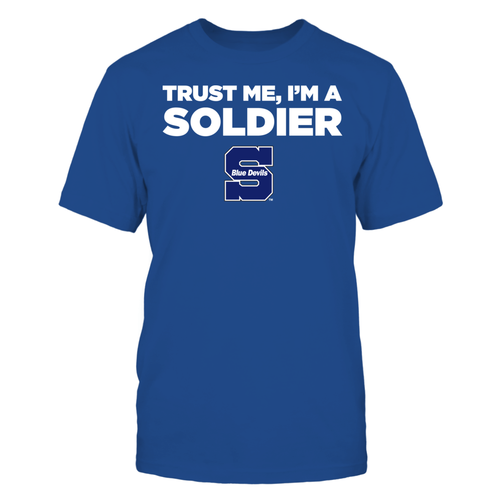 Wisconsin Stout Blue Devils - Trust Me - I'm a Soldier - Team Front picture