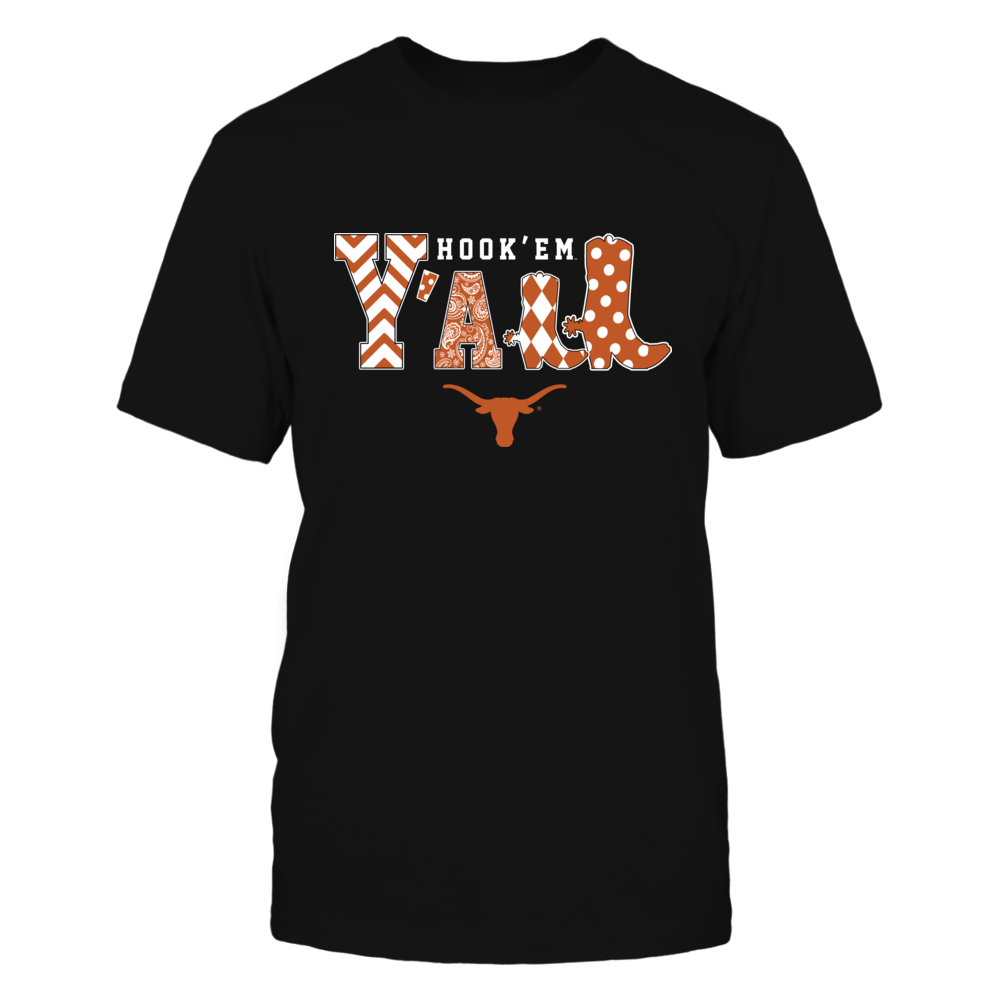 Texas Longhorns - Team Slogan - Y'all - Boots - Patterned Front picture