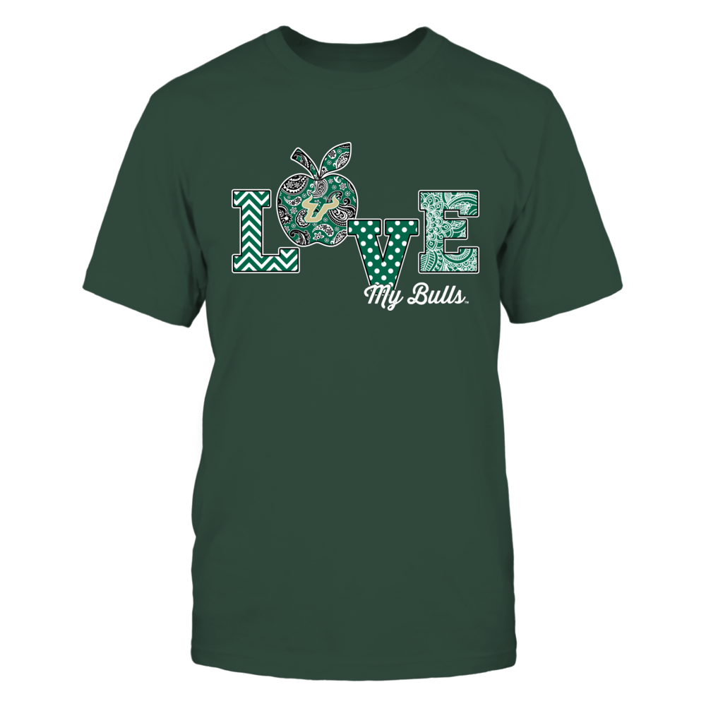 South Florida Bulls - Teacher - Love My Team - Paisley Apple - IF13-IC13-DS64 Front picture