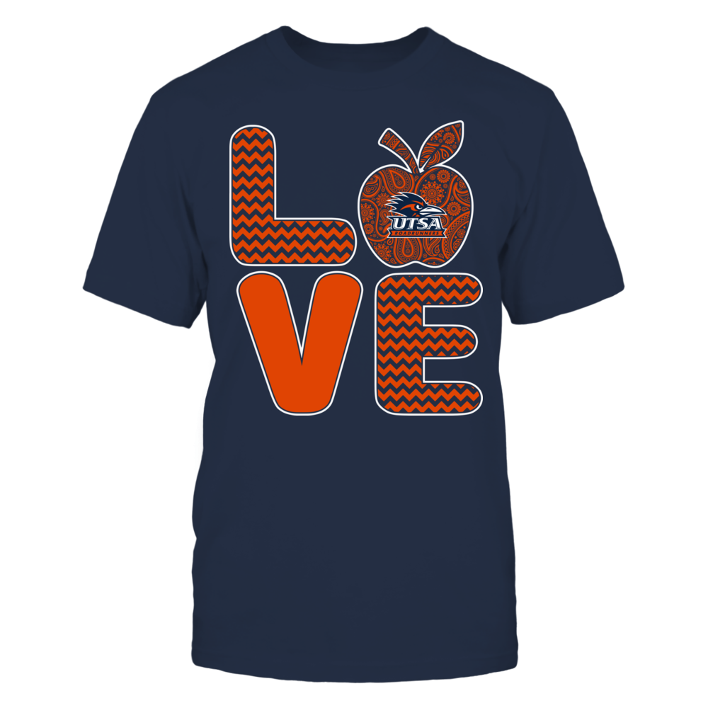 UTSA Roadrunners - Pattern Stacked - Love - Football - Team Front picture