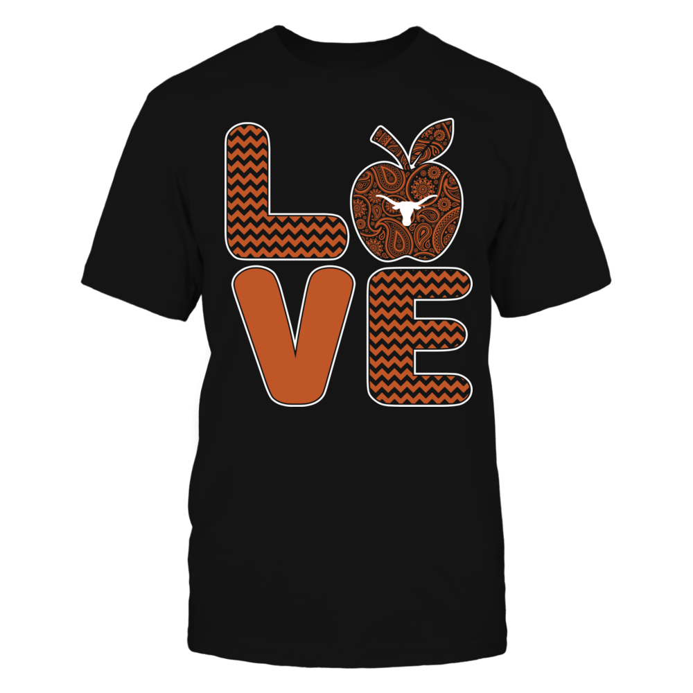 Texas Longhorns - Pattern Stacked - Love - Football - Team Front picture