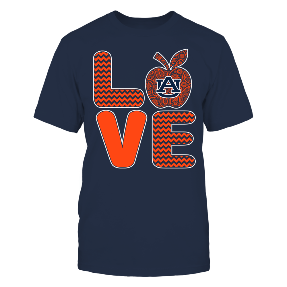 Auburn Tigers - Pattern Stacked - Love - Football - Team Front picture