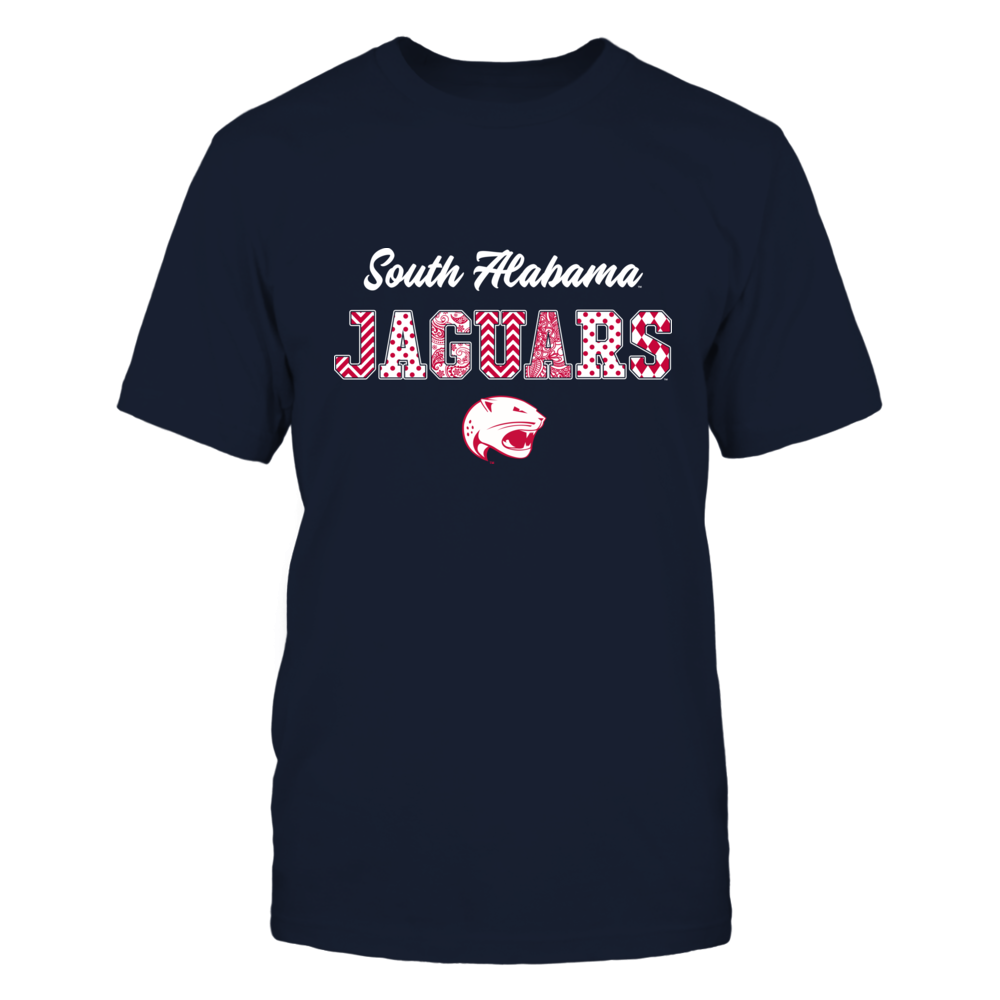 South Alabama Jaguars - Patterned Letters - IF13-IC13-DS37 Front picture