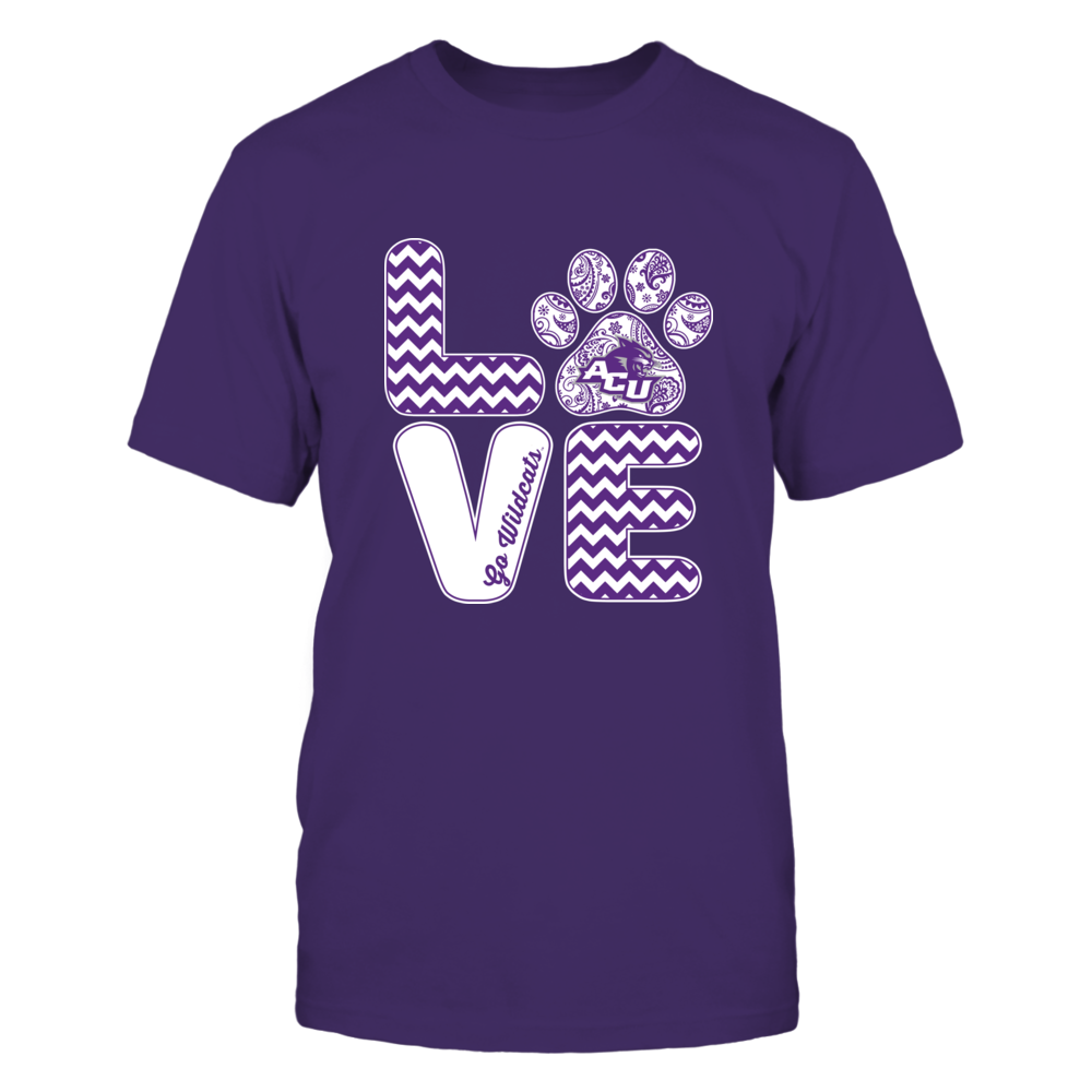 Abilene Christian Wildcats - Love - Paw - IF13-IC13-DS75 Front picture