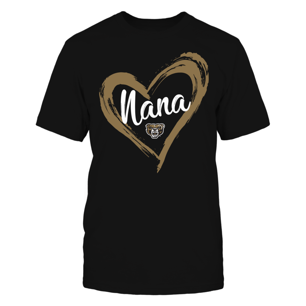 Oakland Golden Grizzlies - Drawing Heart - Nana Front picture