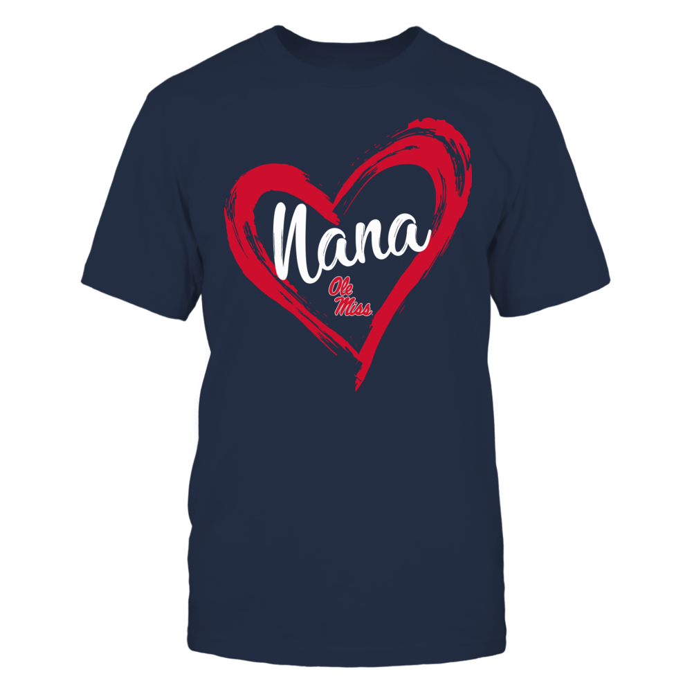 Ole Miss Rebels - Drawing Heart - Nana Front picture
