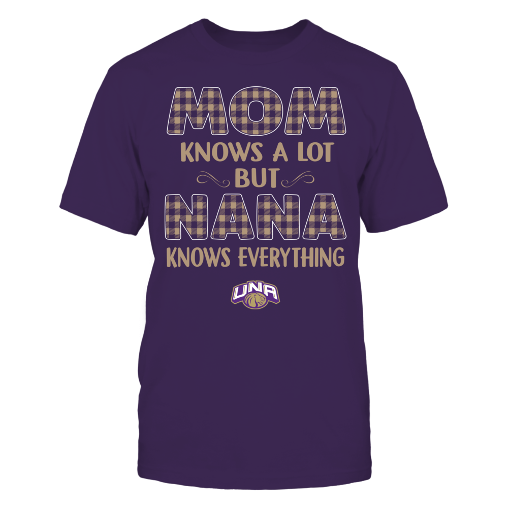 North Alabama Lions - Mom Knows A Lot - Nana Knows Everything - Team Front picture