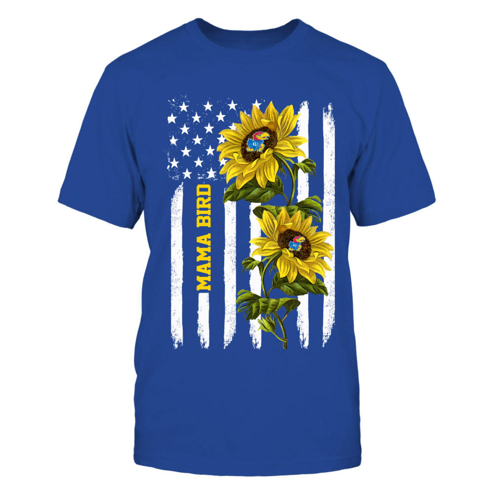 Kansas Jayhawks - Mama Mascot - Sunflower Flag - IF13-IC13-DS63 Front picture