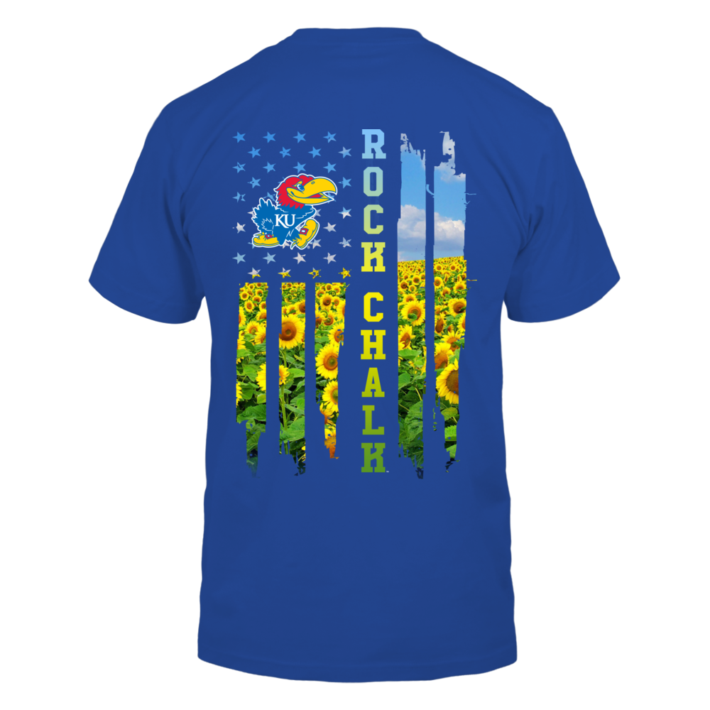 Kansas Jayhawks - Sunflower Field Inside Flag - IF13-IC13-DS37 Back picture