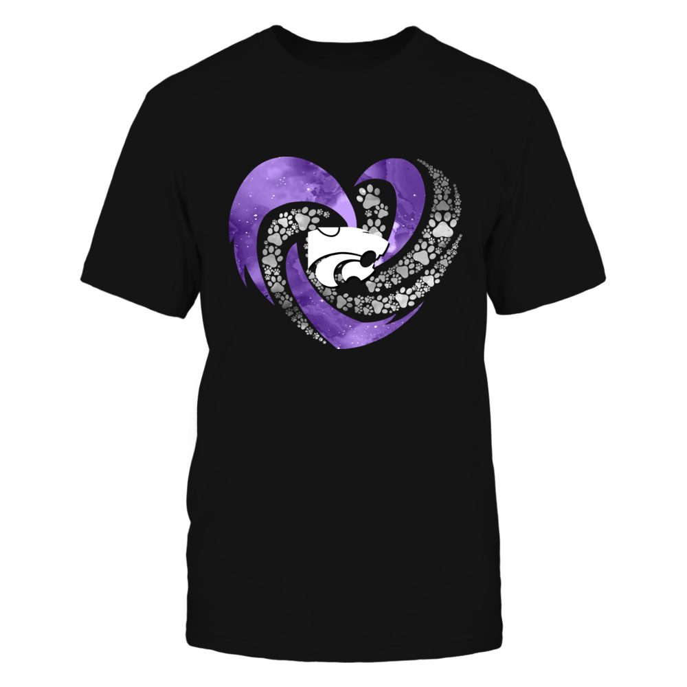 Kansas State Wildcats - Hurricane Heart - Paws Inside - IF-IC13-DS38 Front picture