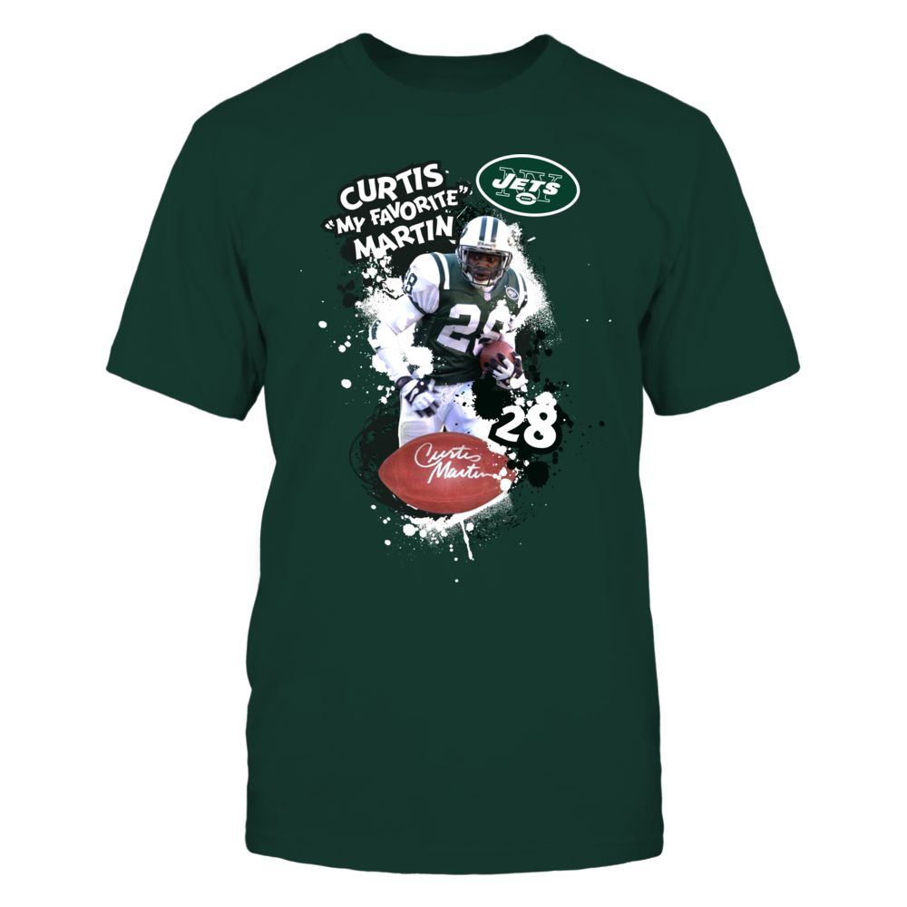 """Curtis """"My Favorite"""" Martin NY Jets Legends Shirts and More Front picture"""