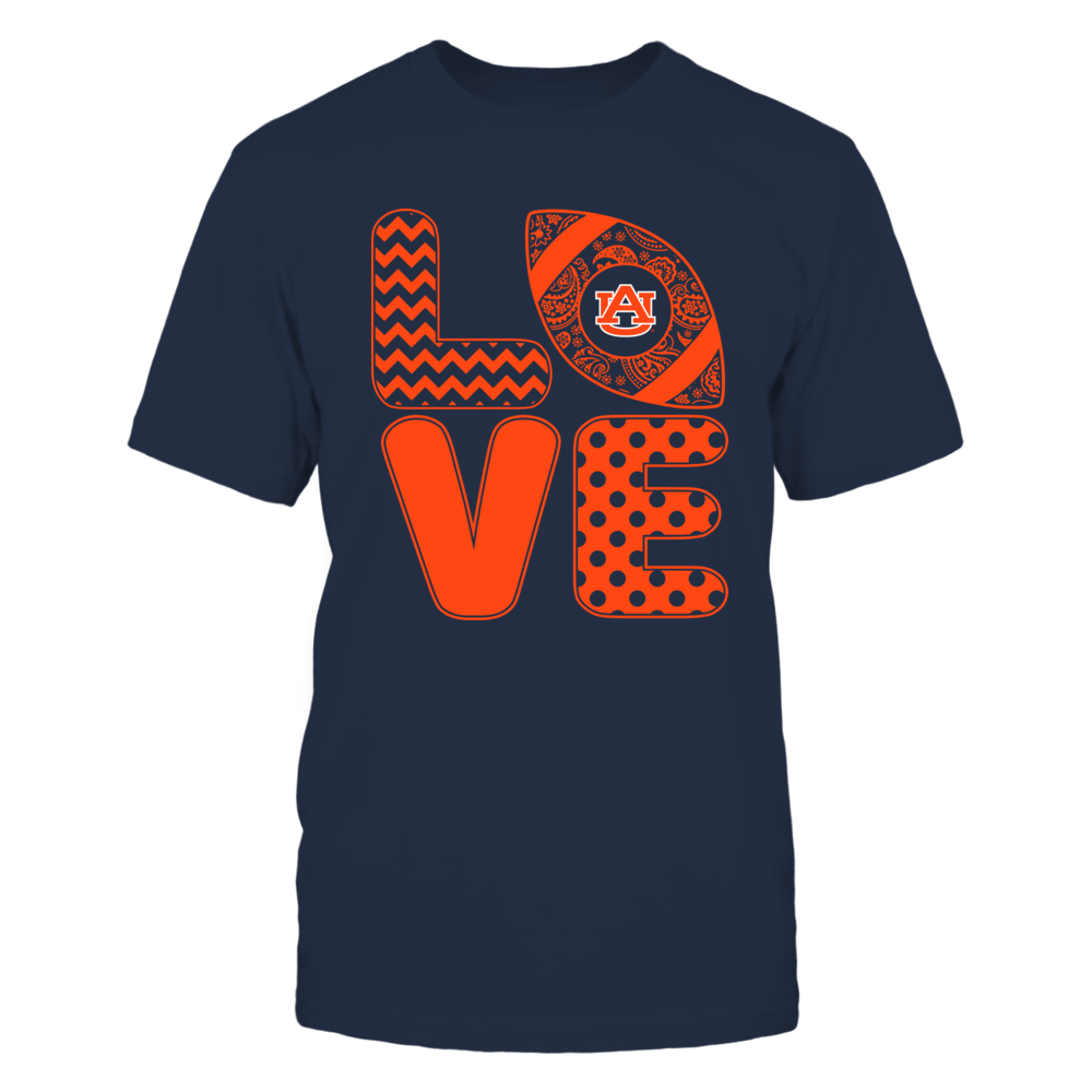 Auburn Tigers - Patterned Stack Love - Football - Team Front picture