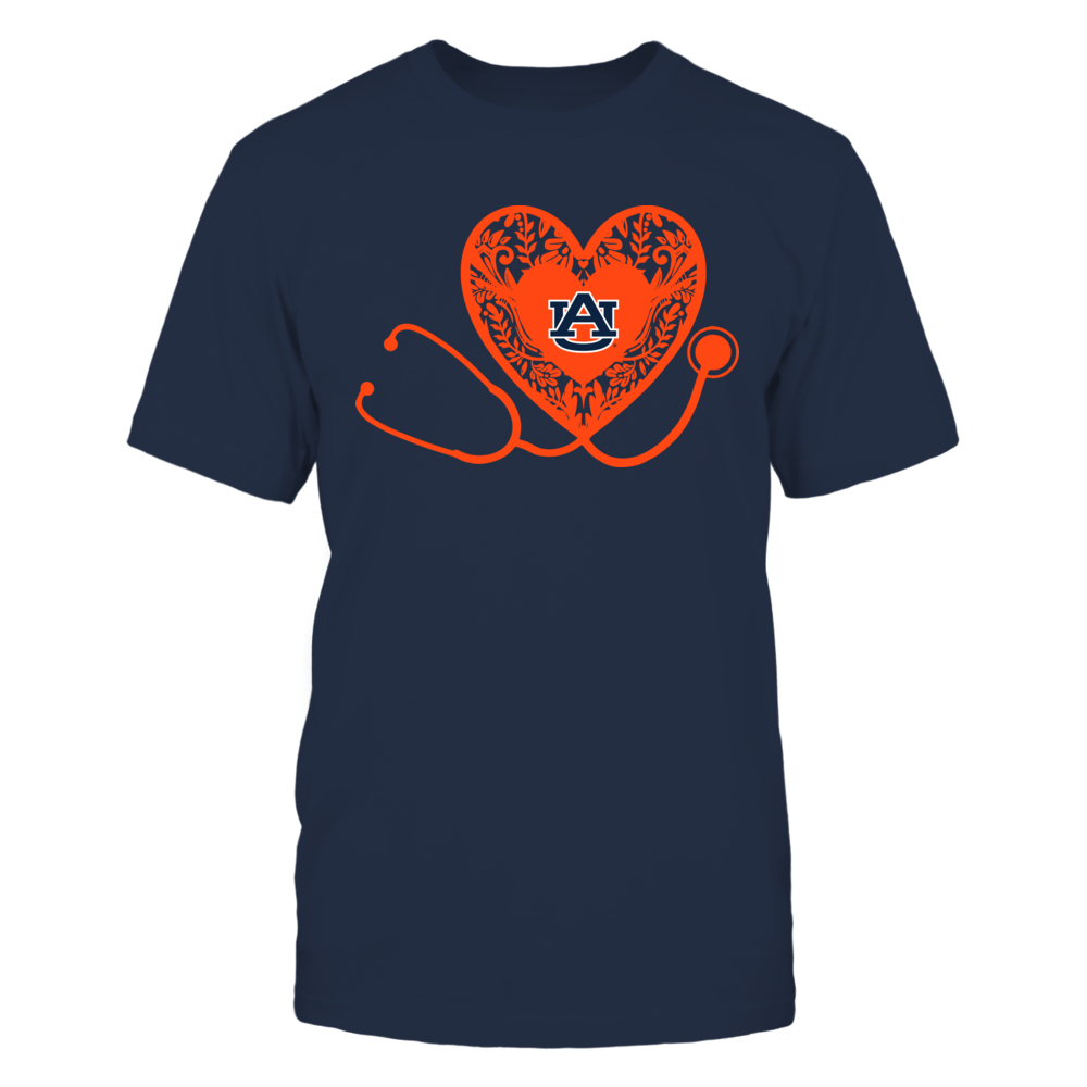 Auburn Tigers - Nurse - Floral Pattern - Stethoscope Front picture