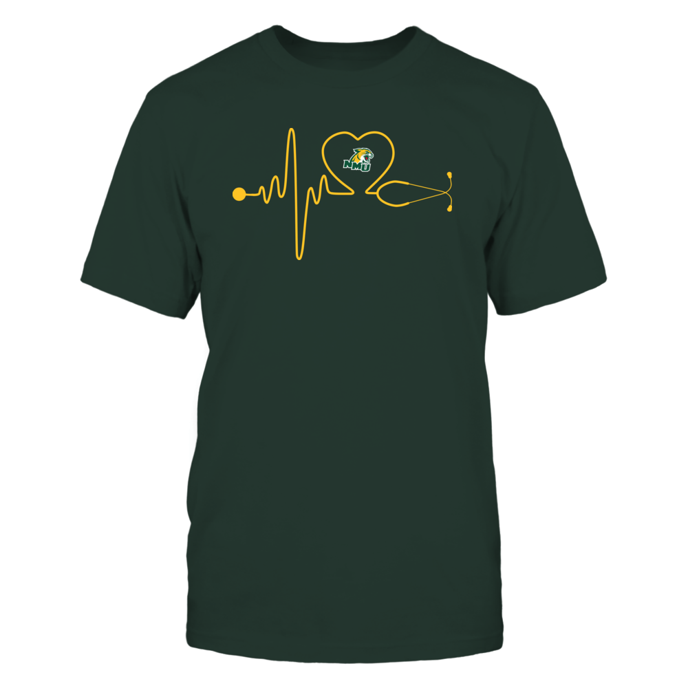 Northern Michigan Wildcats - Stethoscope - Heart Beat Front picture