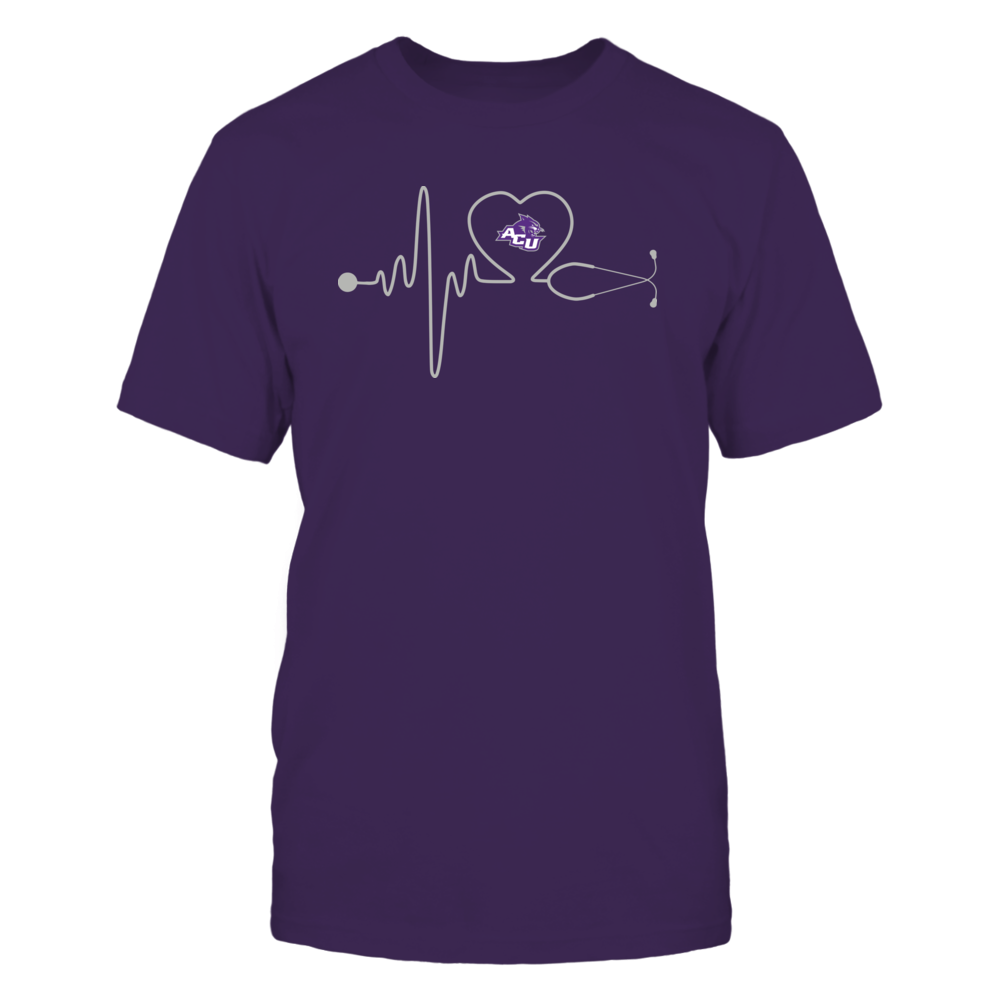 Abilene Christian Wildcats - Stethoscope - Heart Beat Front picture