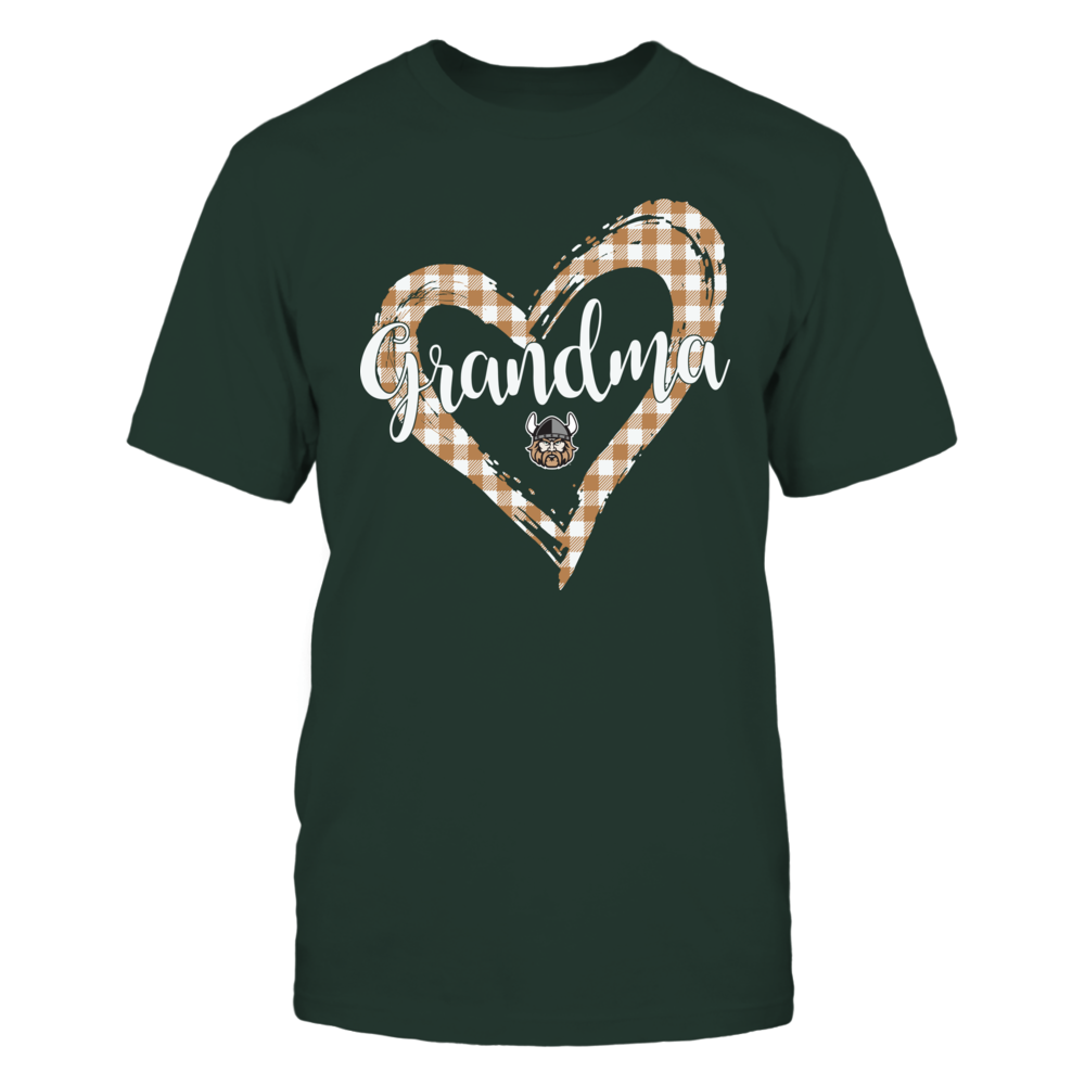 Cleveland State Vikings - Checkered Heart Outline - Grandma Front picture