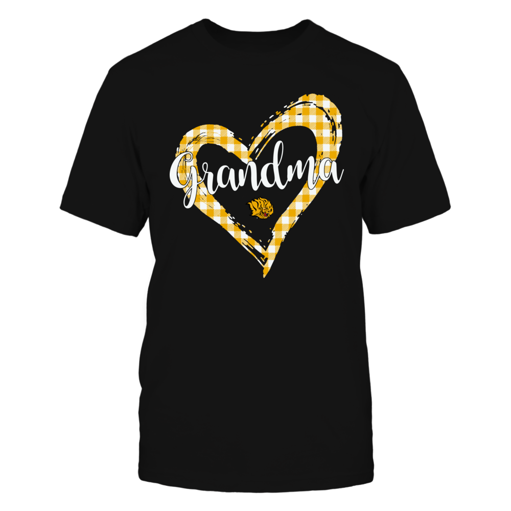 Arkansas Pine Bluff Golden Lions - Checkered Heart Outline - Grandma Front picture