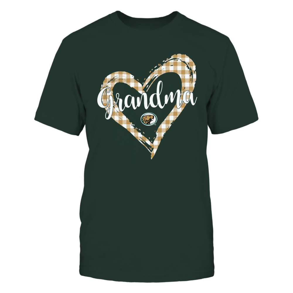 Bemidji State Beavers - Checkered Heart Outline - Grandma Front picture