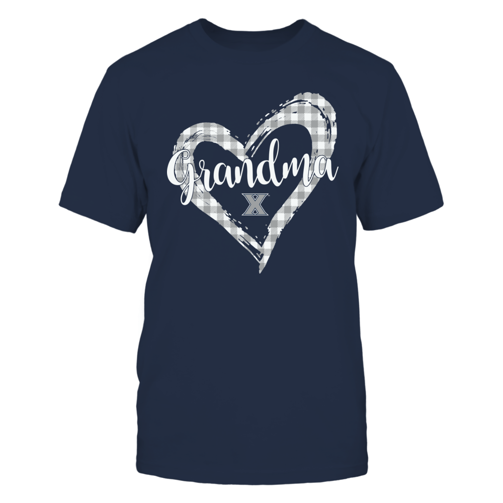 Xavier Musketeers - Checkered Heart Outline - Grandma Front picture