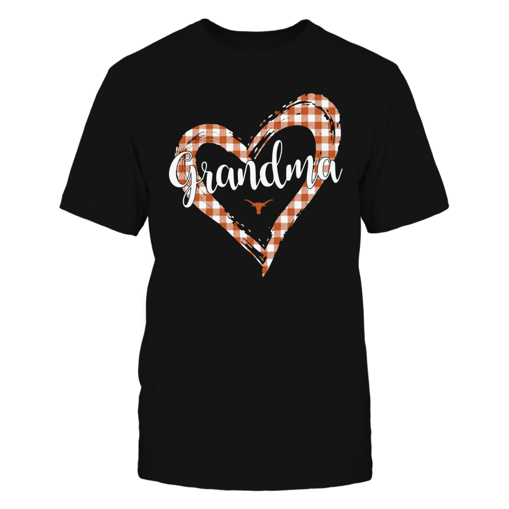 Texas Longhorns - Checkered Heart Outline - Grandma Front picture