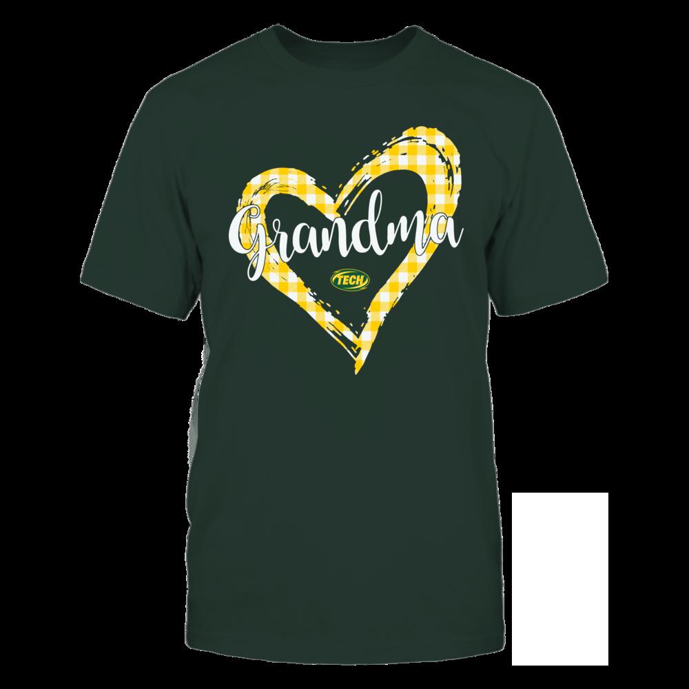 Arkansas Tech Golden Suns - Checkered Heart Outline - Grandma Front picture