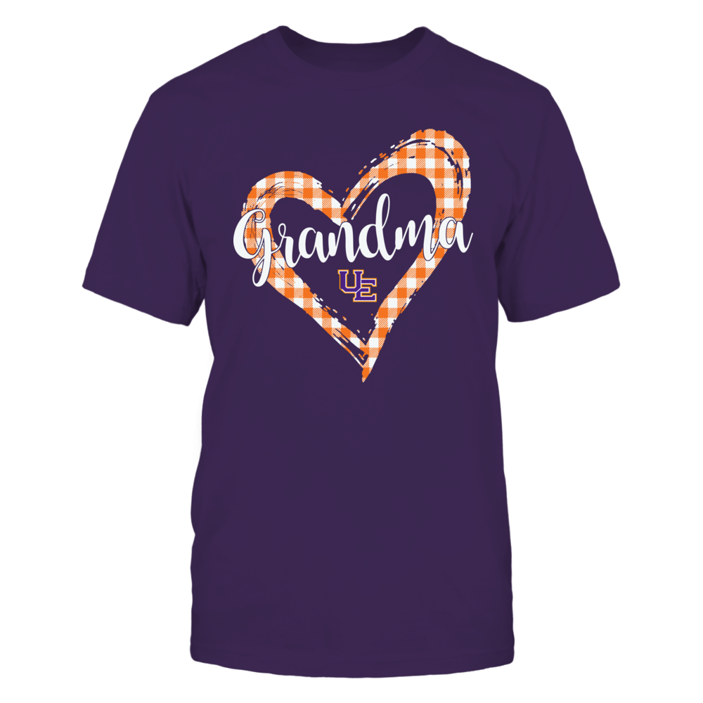 Evansville Purple Aces - Checkered Heart Outline - Grandma Front picture