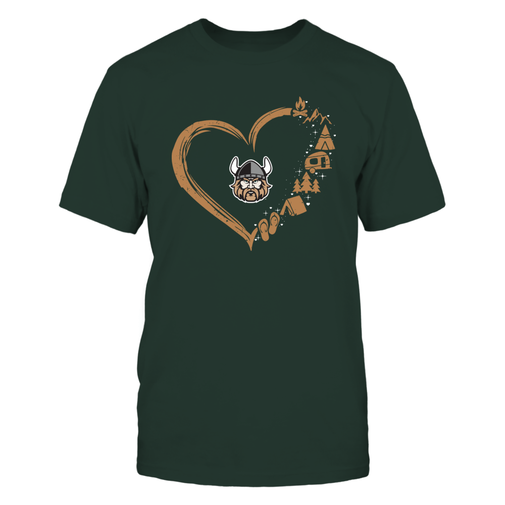 Cleveland State Vikings - Camping Things - Heart Outline Front picture