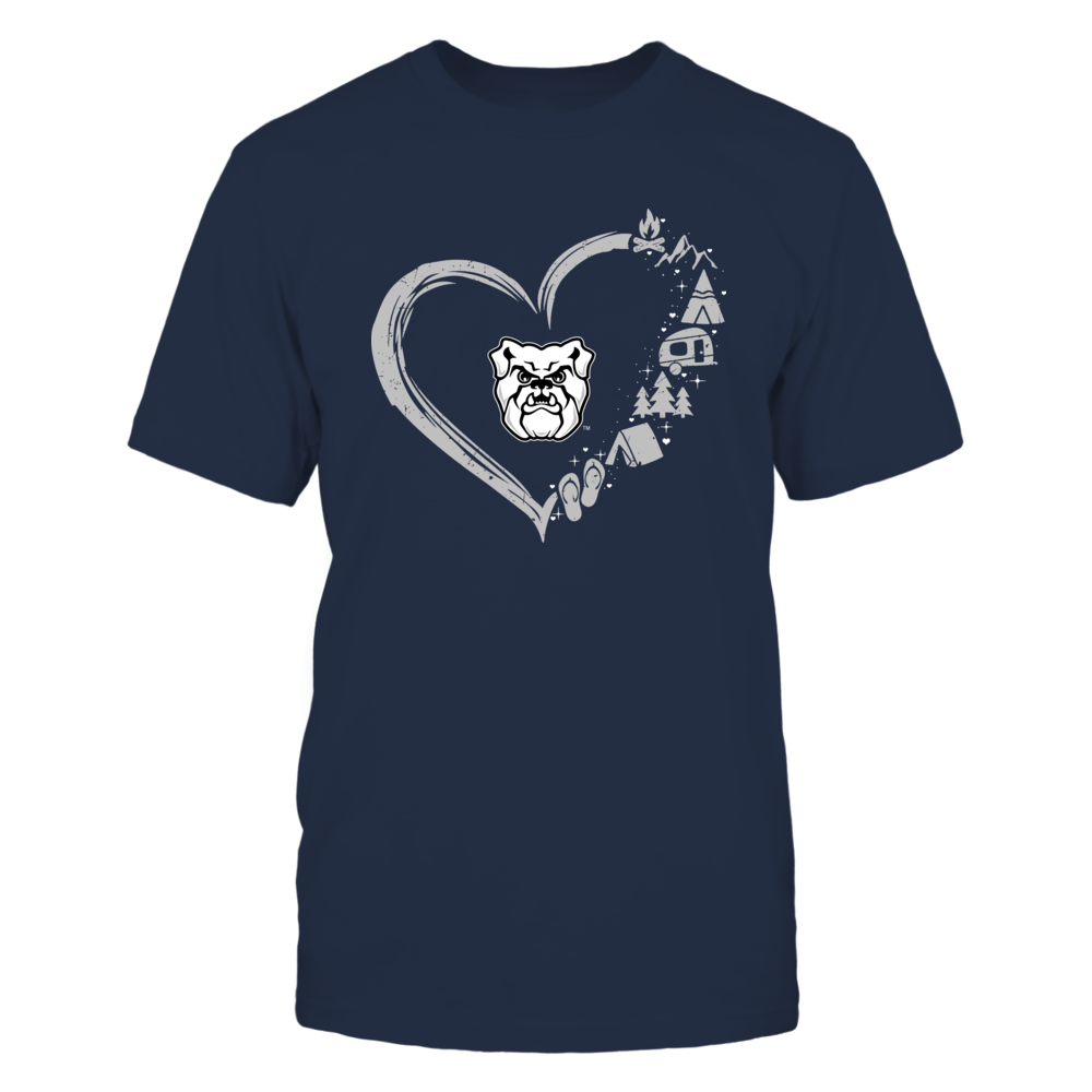 Butler Bulldogs - Camping Things - Heart Outline Front picture