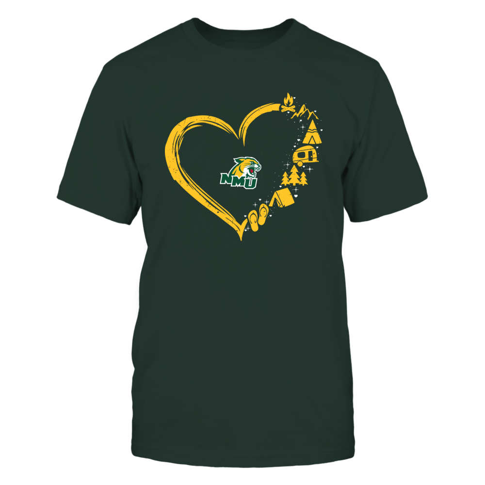Northern Michigan Wildcats - Camping Things - Heart Outline Front picture