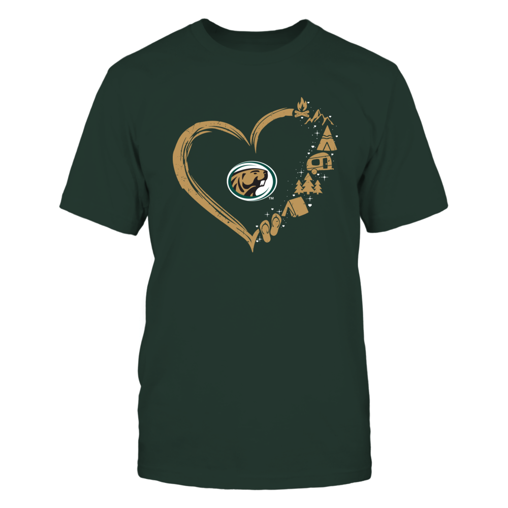 Bemidji State Beavers - Camping Things - Heart Outline Front picture