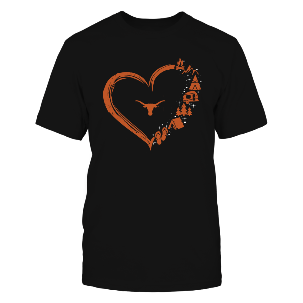 Texas Longhorns - Camping Things - Heart Outline Front picture