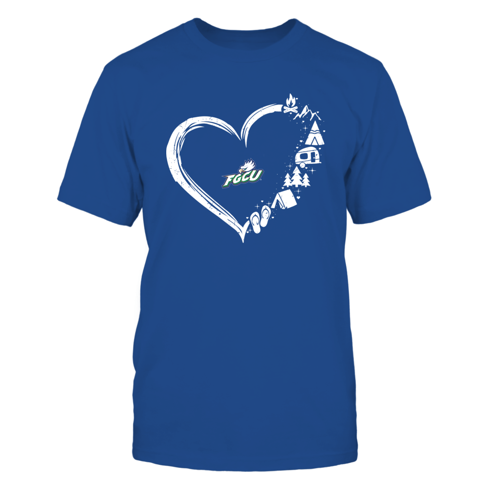 Florida Gulf Coast Eagles - Camping Things - Heart Outline Front picture