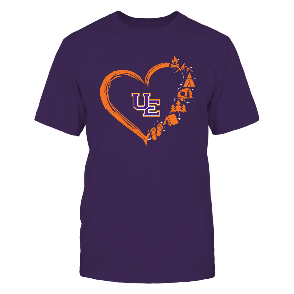 Evansville Purple Aces - Camping Things - Heart Outline Front picture