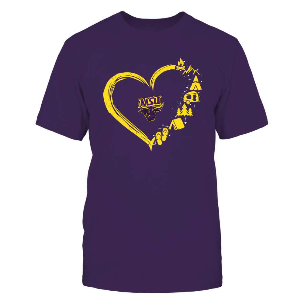 Minnesota State Mavericks - Camping Things - Heart Outline Front picture