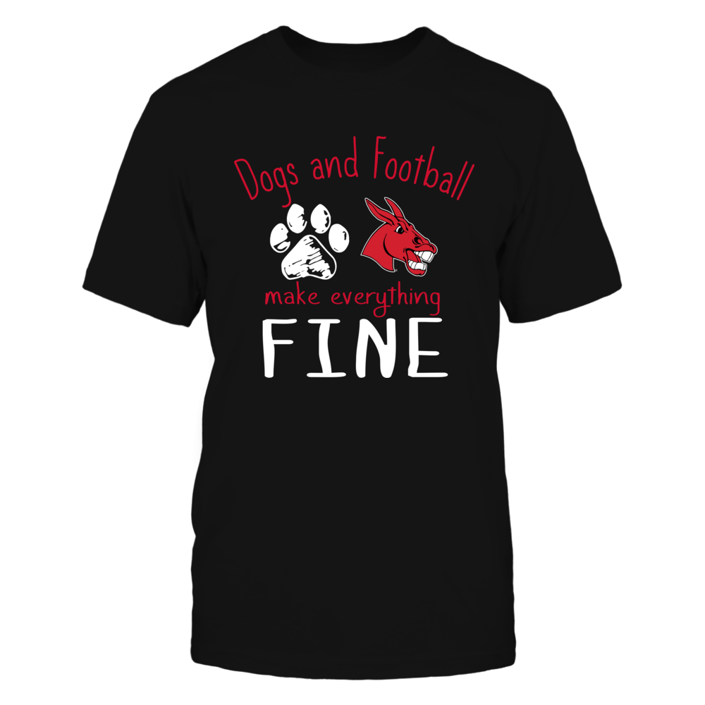 Central Missouri Mules - Dogs And Football Make Everything Fine Front picture