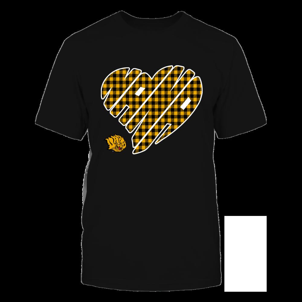 Arkansas Pine Bluff Golden Lions - Nana - Heart Shape - Checkered Front picture
