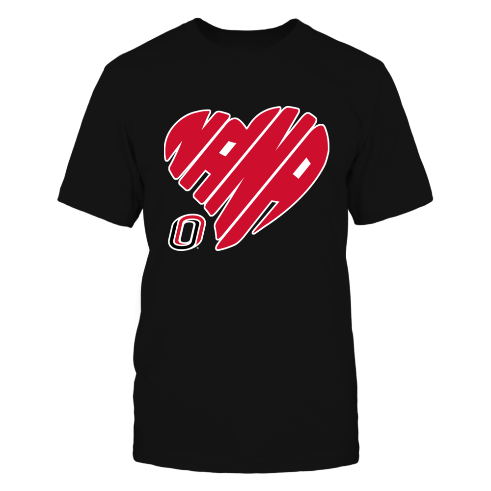 Nebraska Omaha Mavericks - Nana - Heart Shape - Checkered Front picture