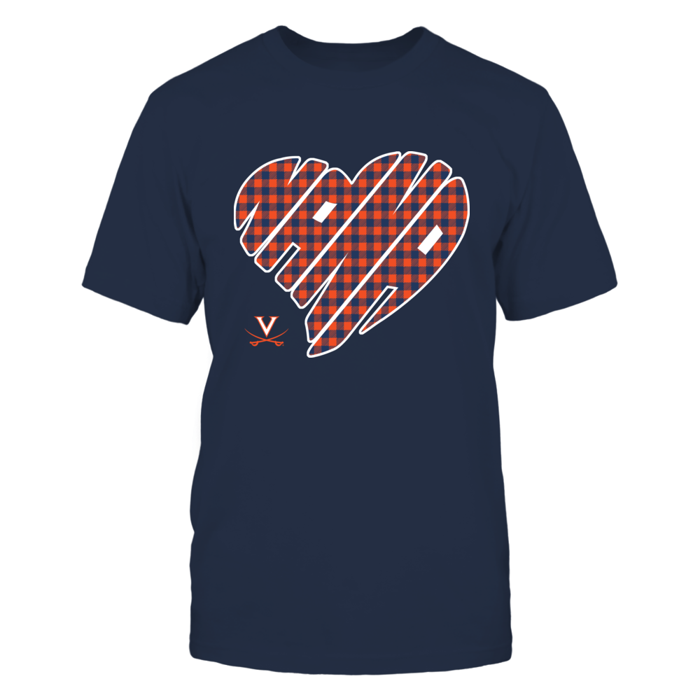 Virginia Cavaliers - Nana - Heart Shape - Checkered Front picture