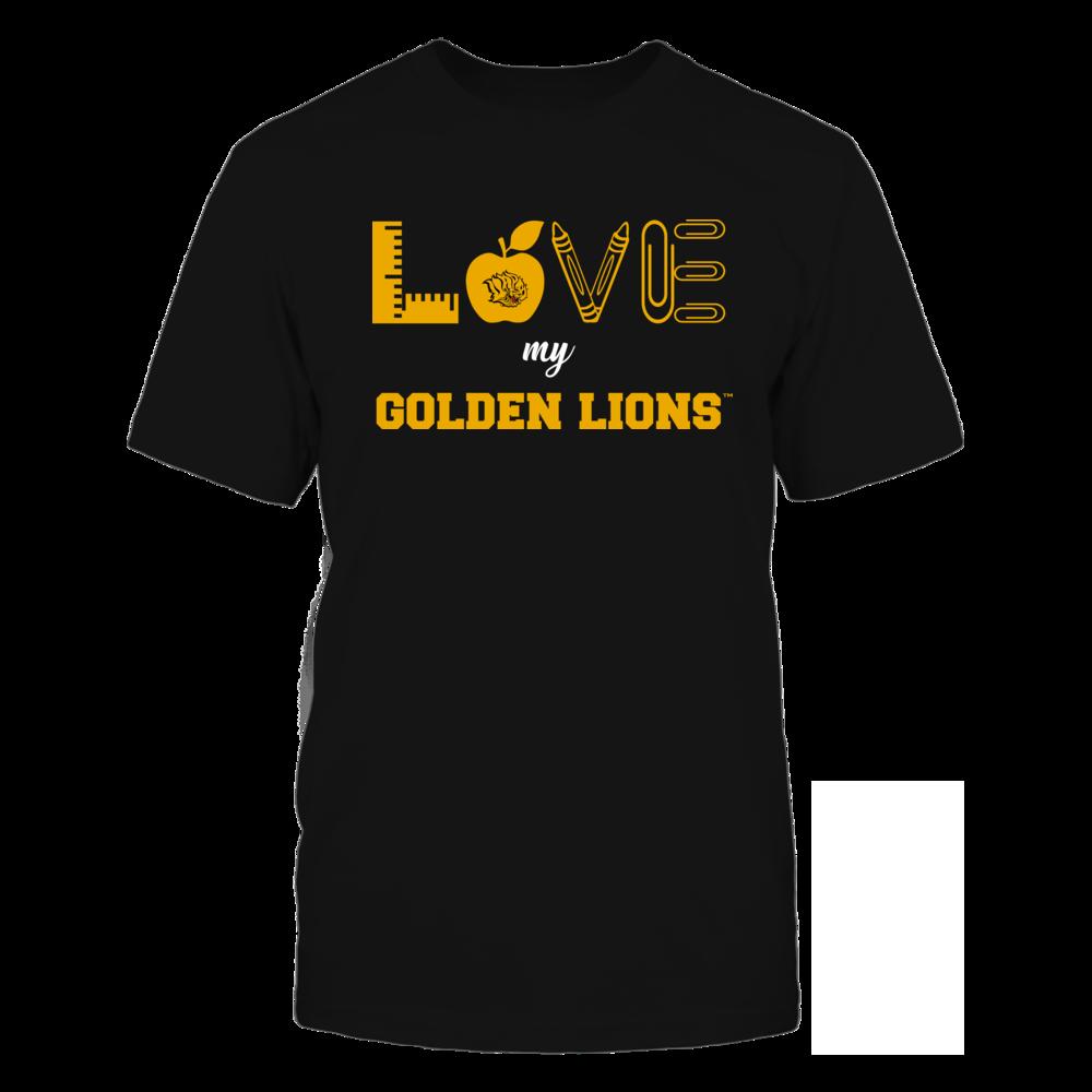 Arkansas Pine Bluff Golden Lions - Love - Teacher Symbols - Team Front picture