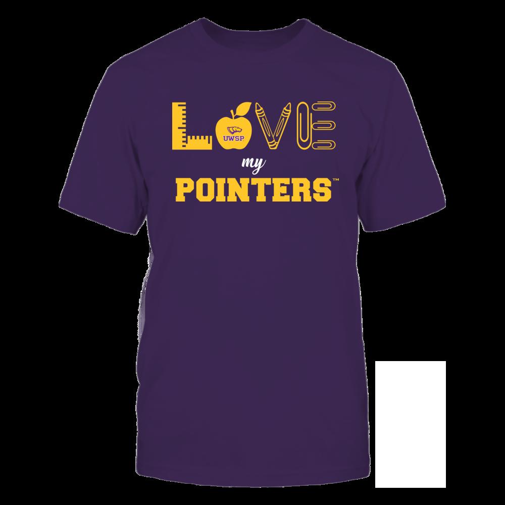 Wisconsin-Stevens Point Pointers - Love - Teacher Symbols - Team Front picture