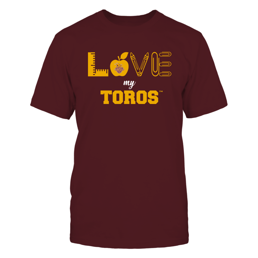 Cal State Dominguez Hills Toros - Love - Teacher Symbols - Team Front picture