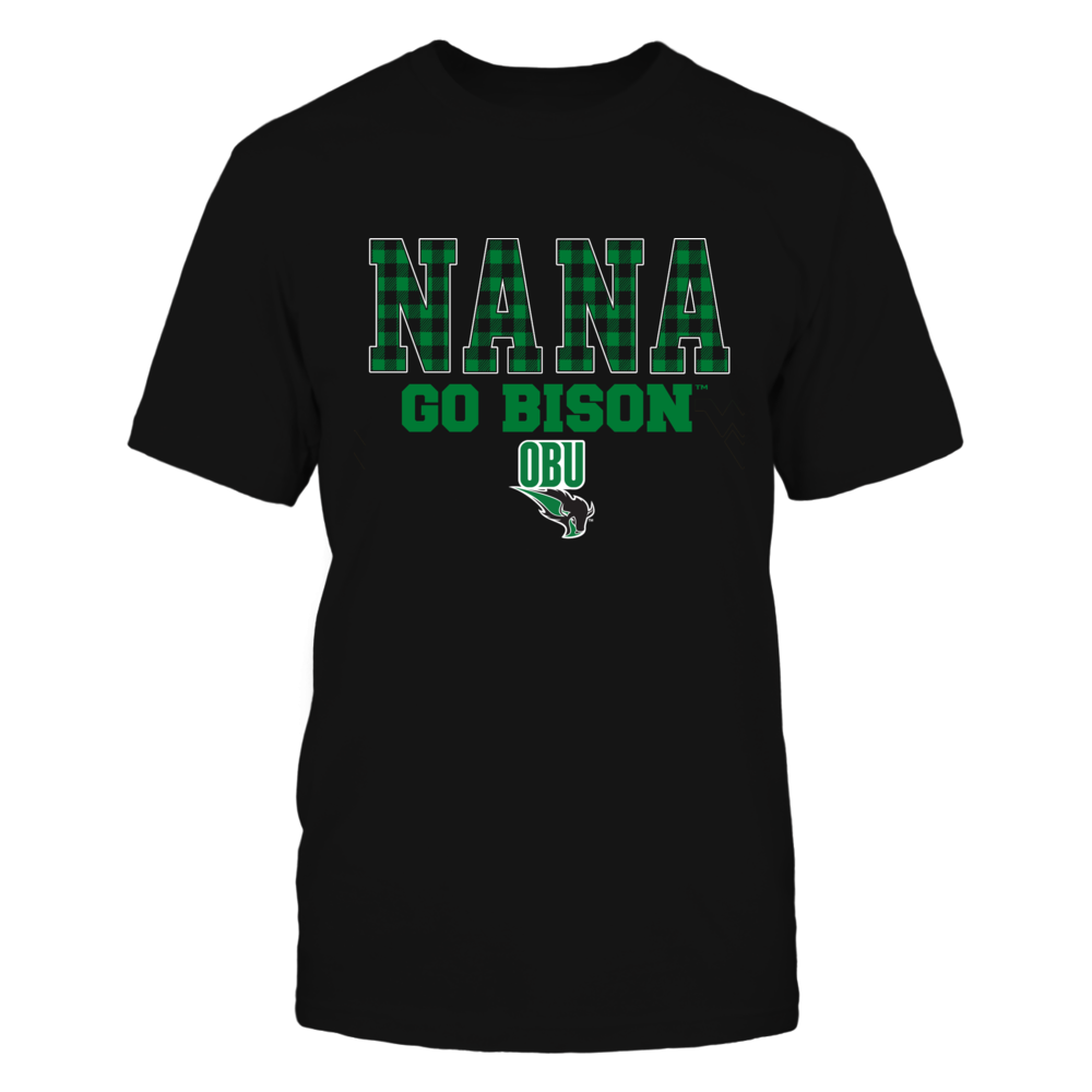 Oklahoma Baptist Bison - Checkered Pattern - Slogan - Nana Front picture