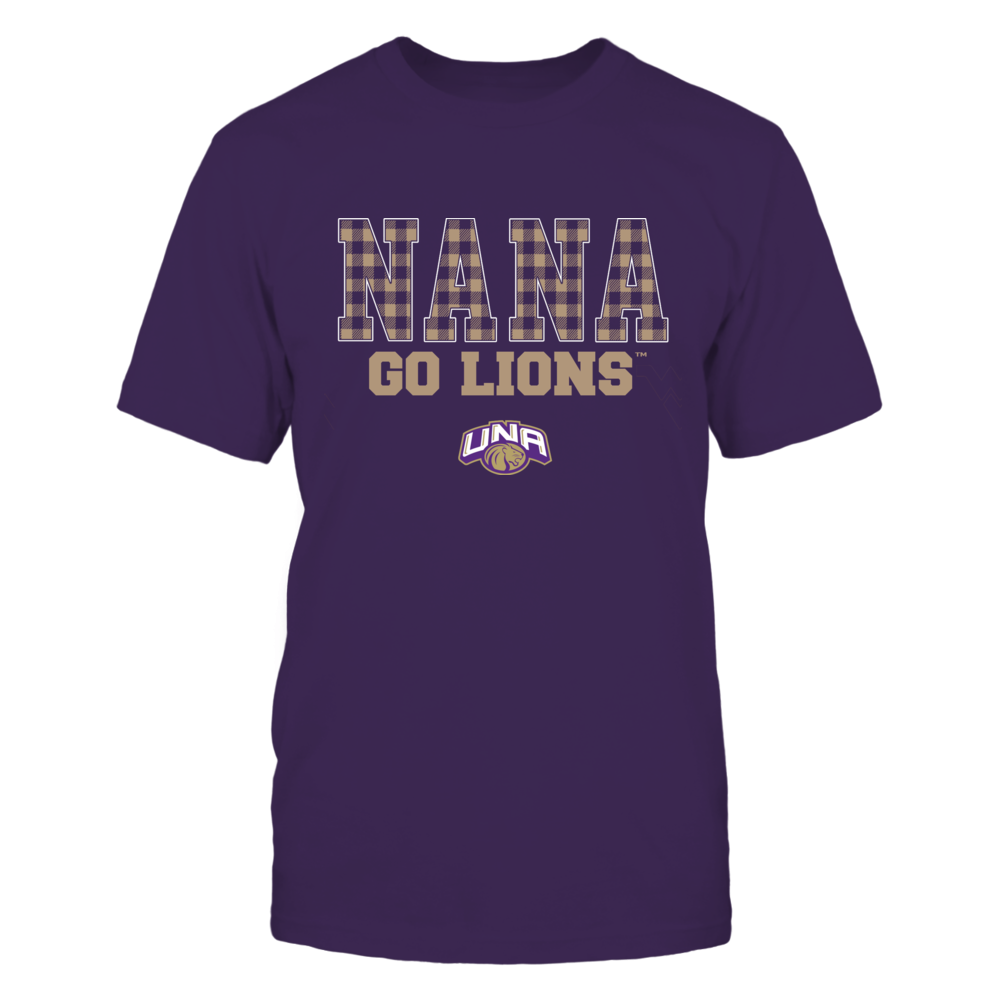 North Alabama Lions - Checkered Pattern - Slogan - Nana Front picture