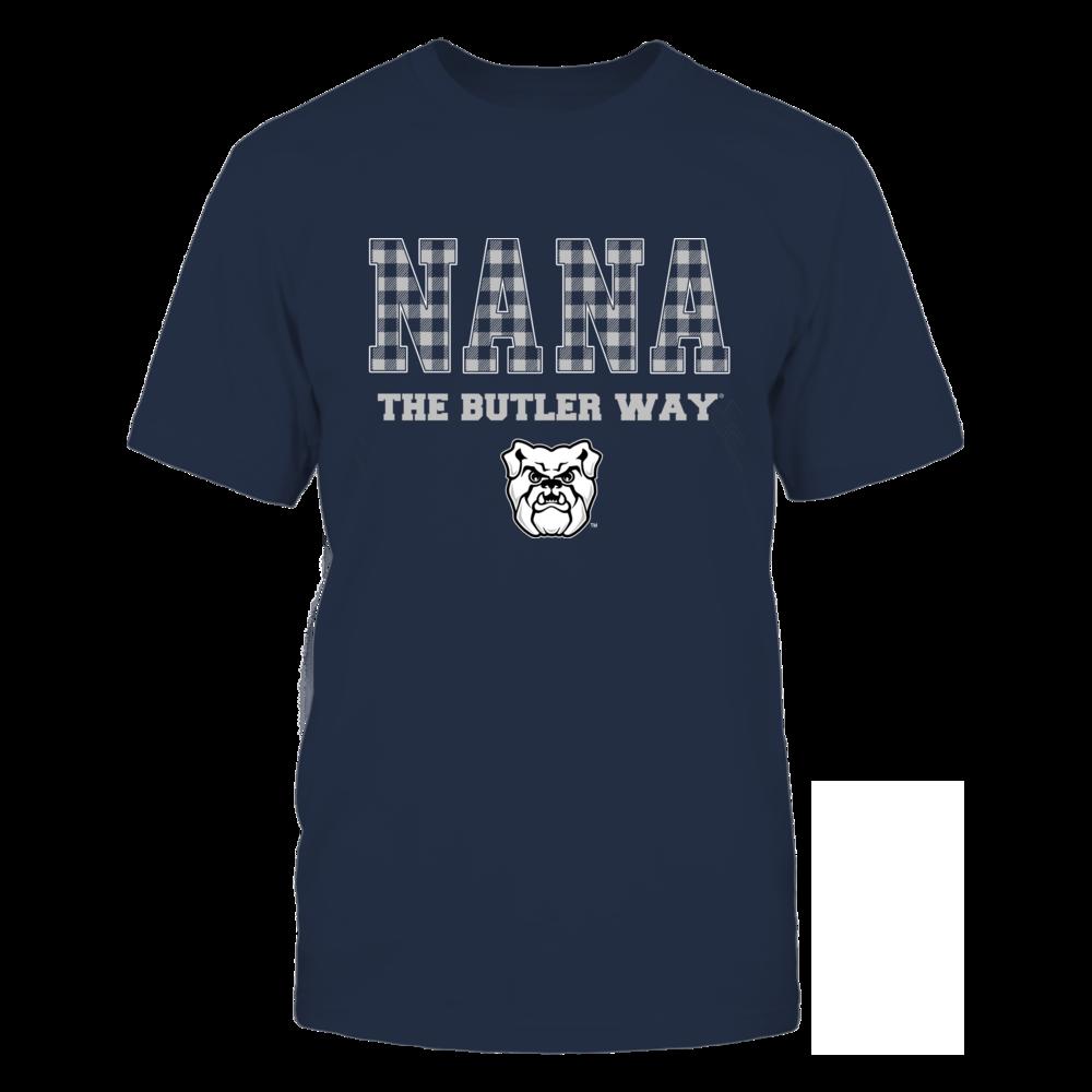 Butler Bulldogs - Checkered Pattern - Slogan - Nana Front picture