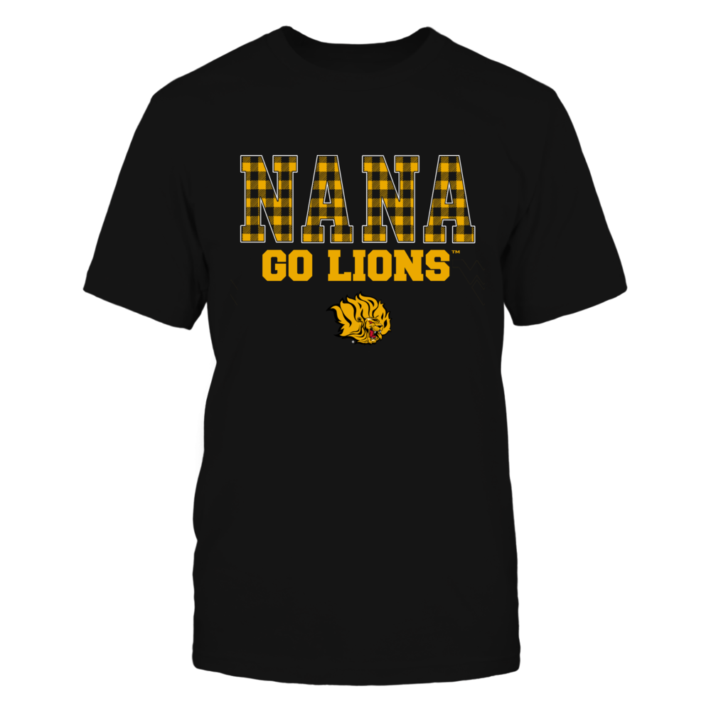 Arkansas Pine Bluff Golden Lions - Checkered Pattern - Slogan - Nana Front picture