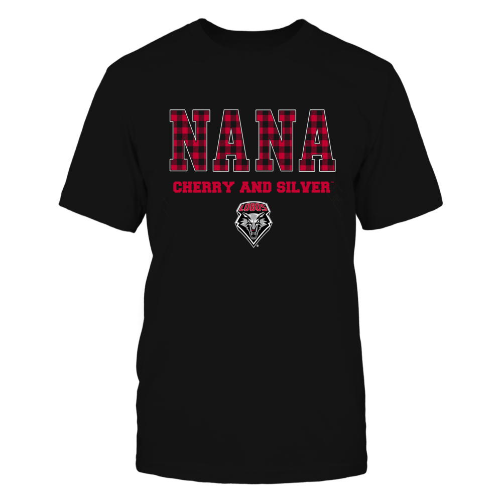 New Mexico Lobos - Checkered Pattern - Slogan - Nana Front picture